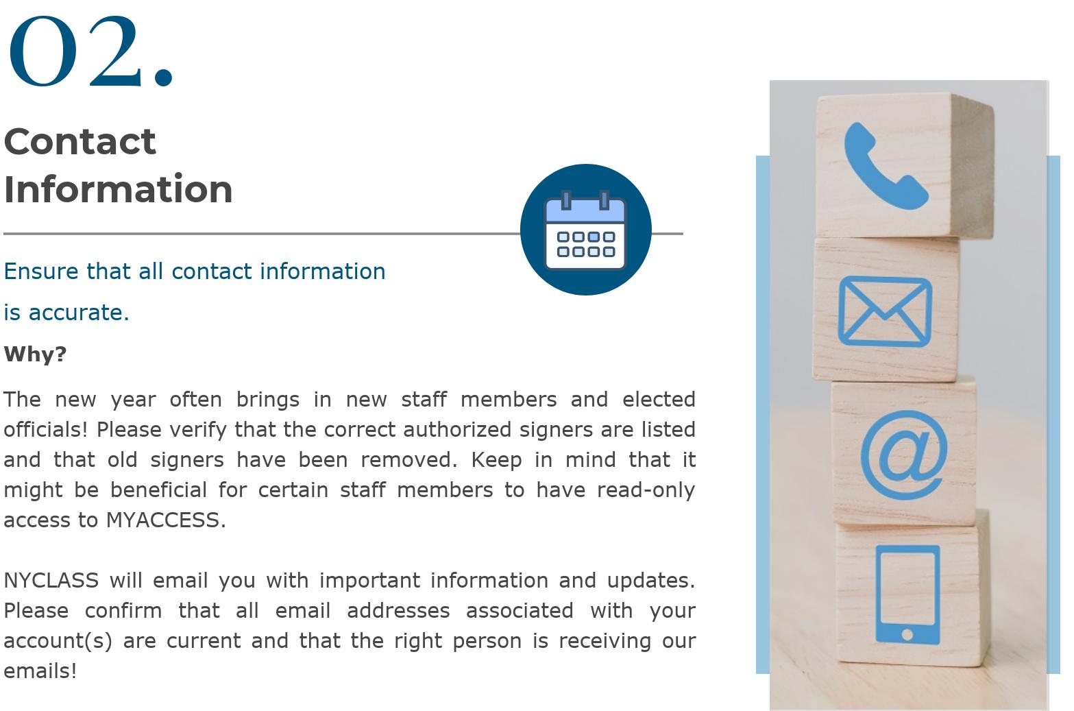 12.18 - Michigan CLASS Updating Contact Information